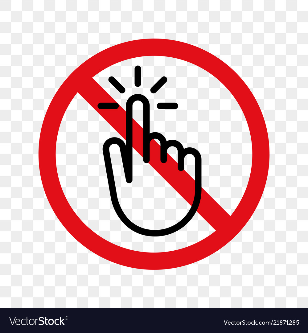 Stop hand finger sign no touch icon