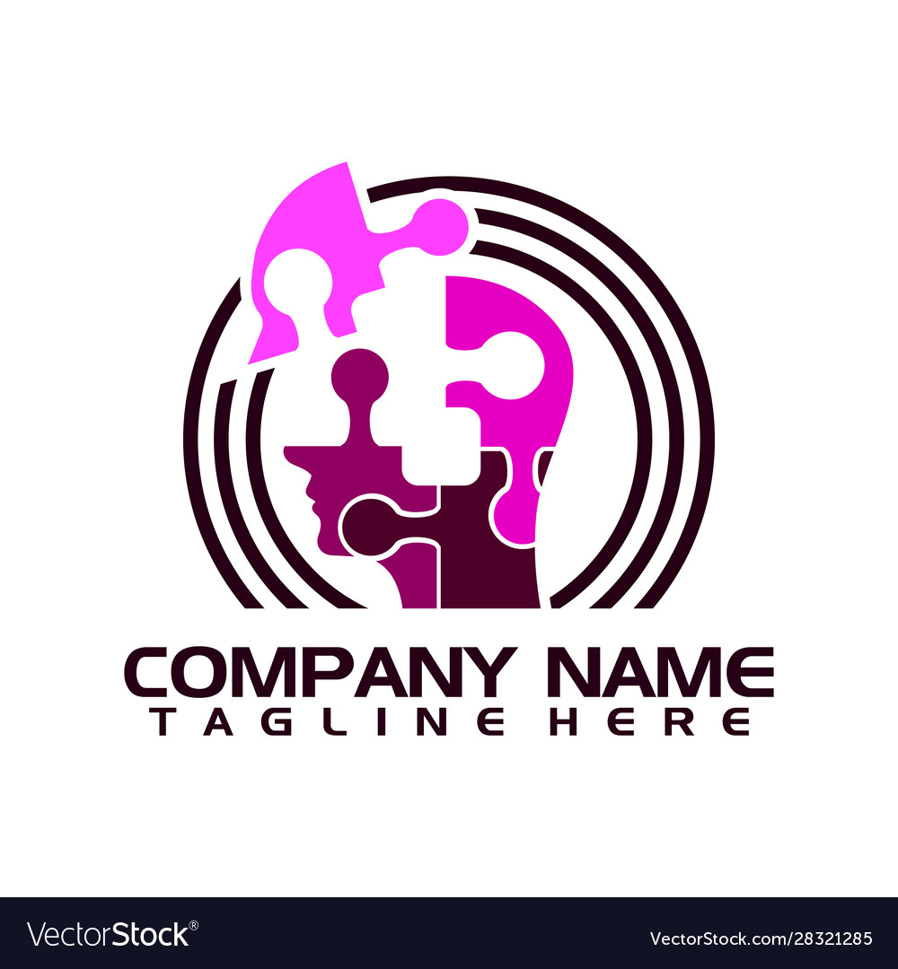 Techno human head logo concept