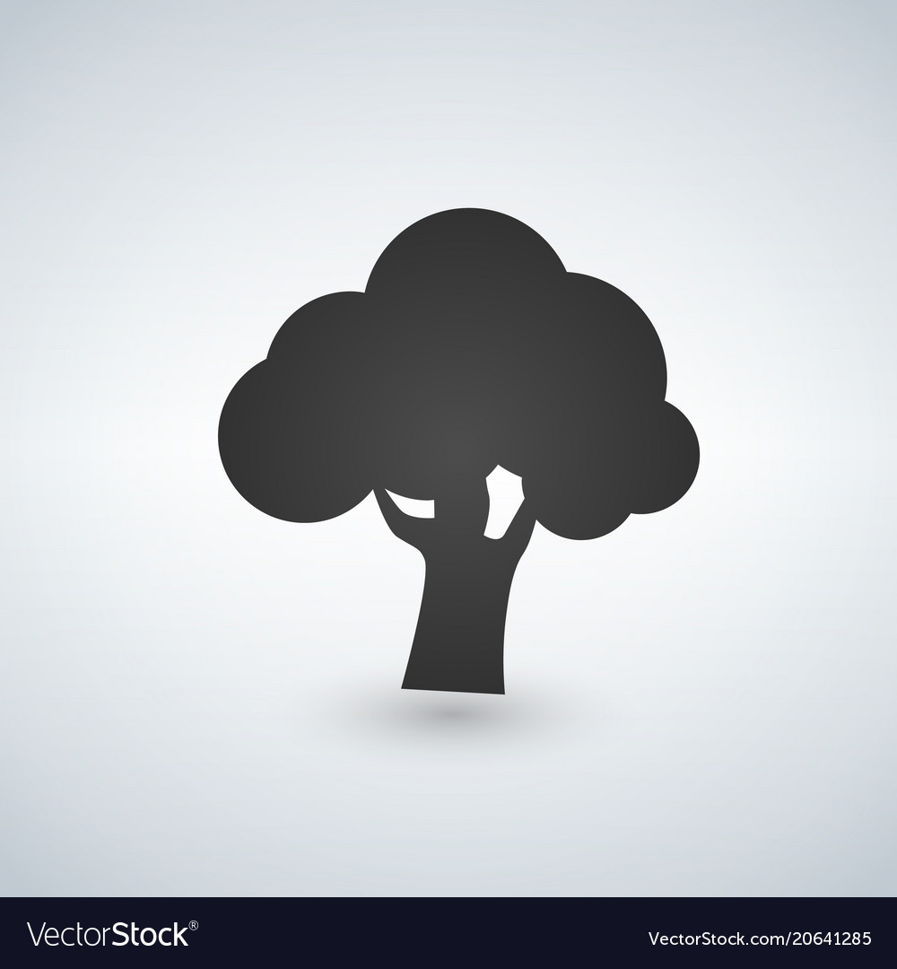 Tree icon isolated on white background vector image