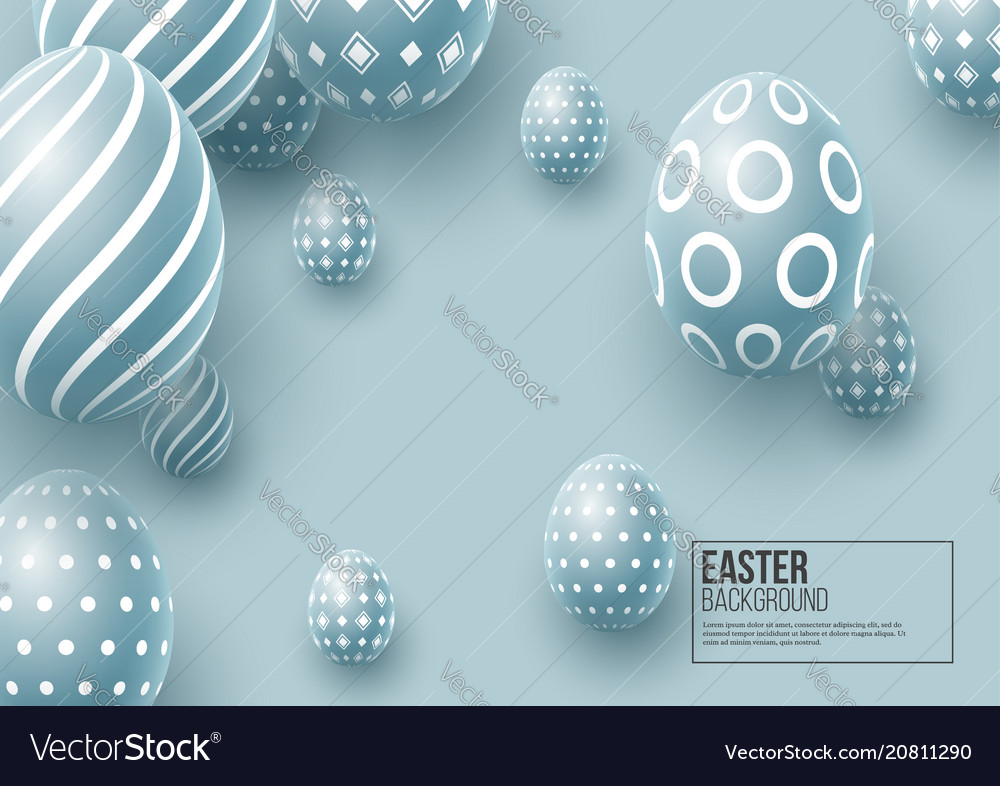 Abstract easter blue background