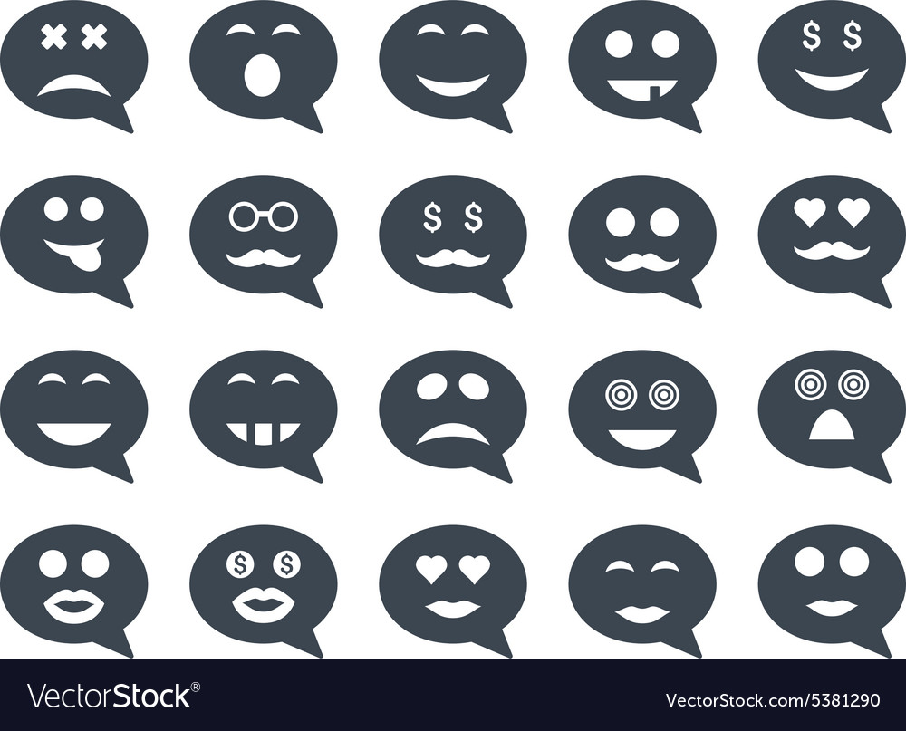 Chat emotion smile icons