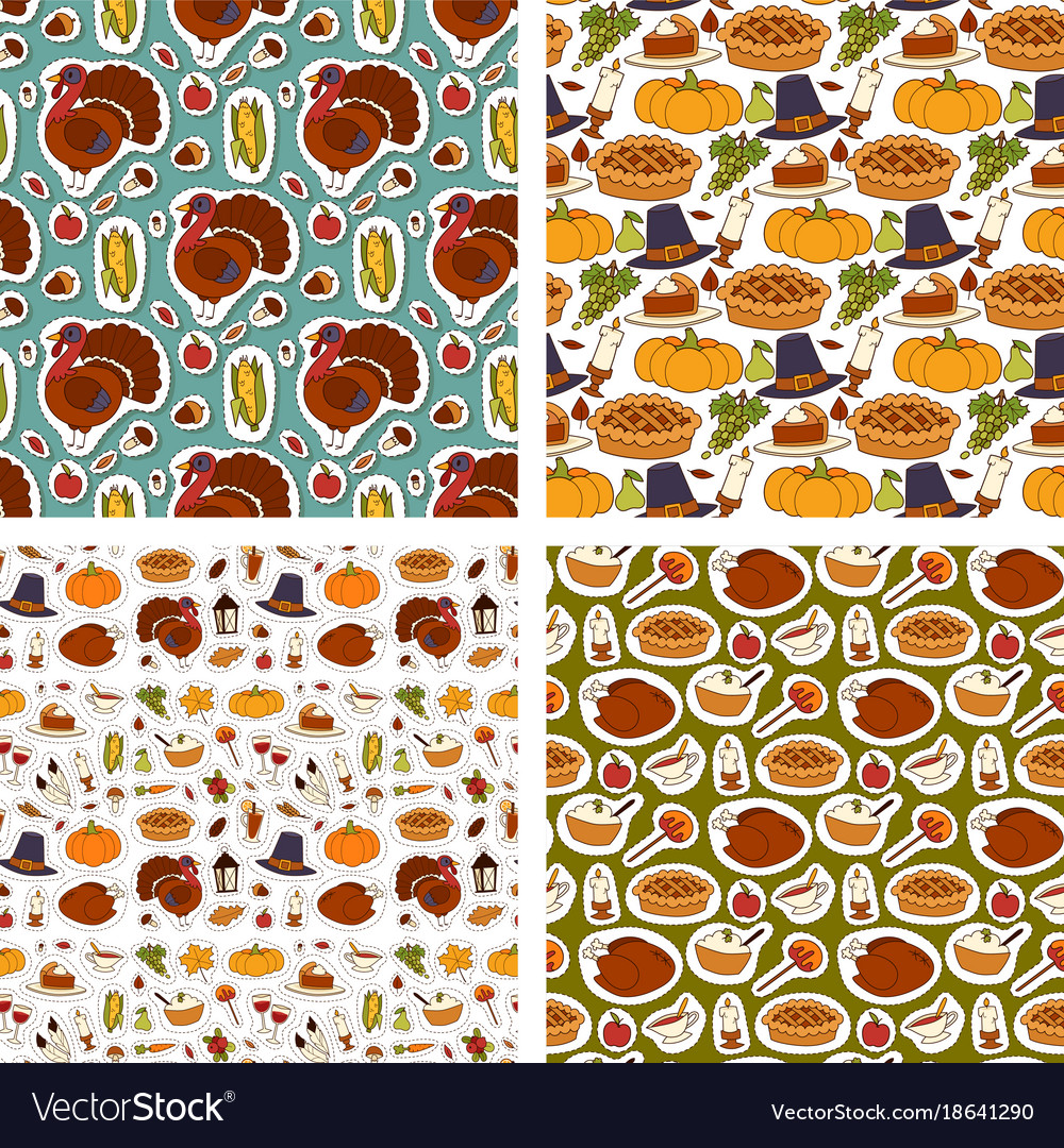 Happy thanksgiving day design holiday seamless