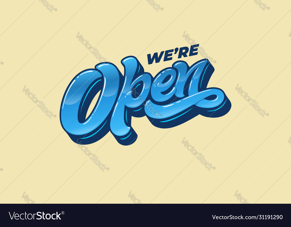 Lettering were open for design a sign