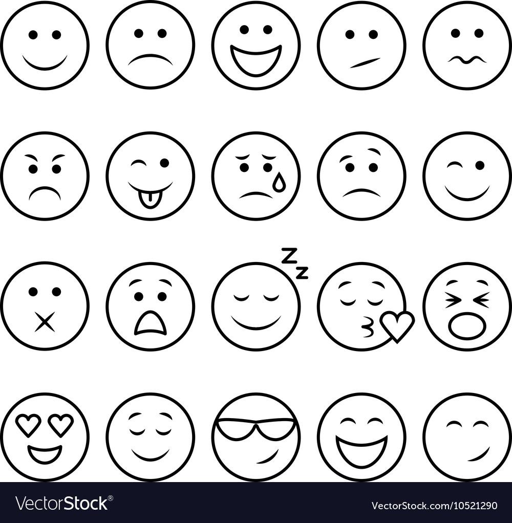 Line emoticons set
