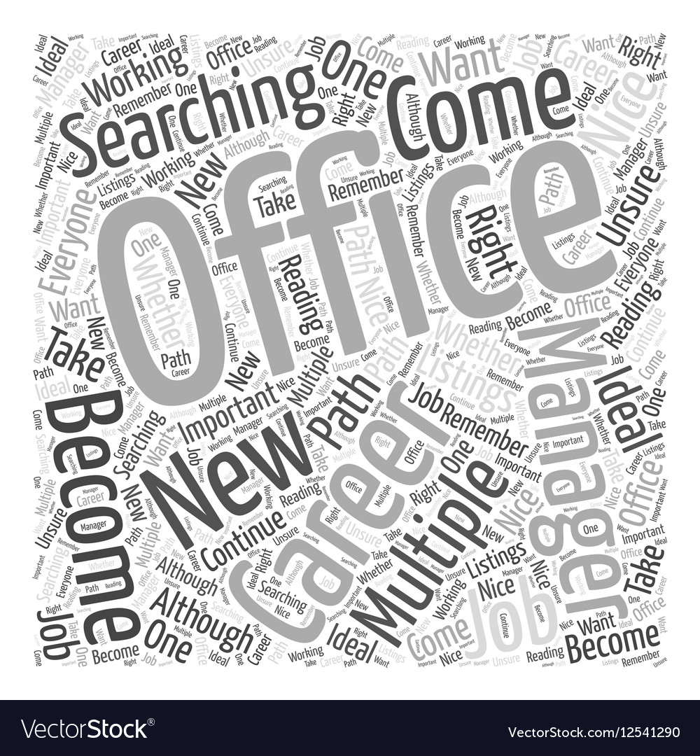 Should You Become an Office Manager Word Cloud vector image