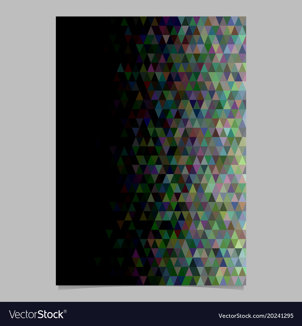 Abstract triangle brochure background template vector image
