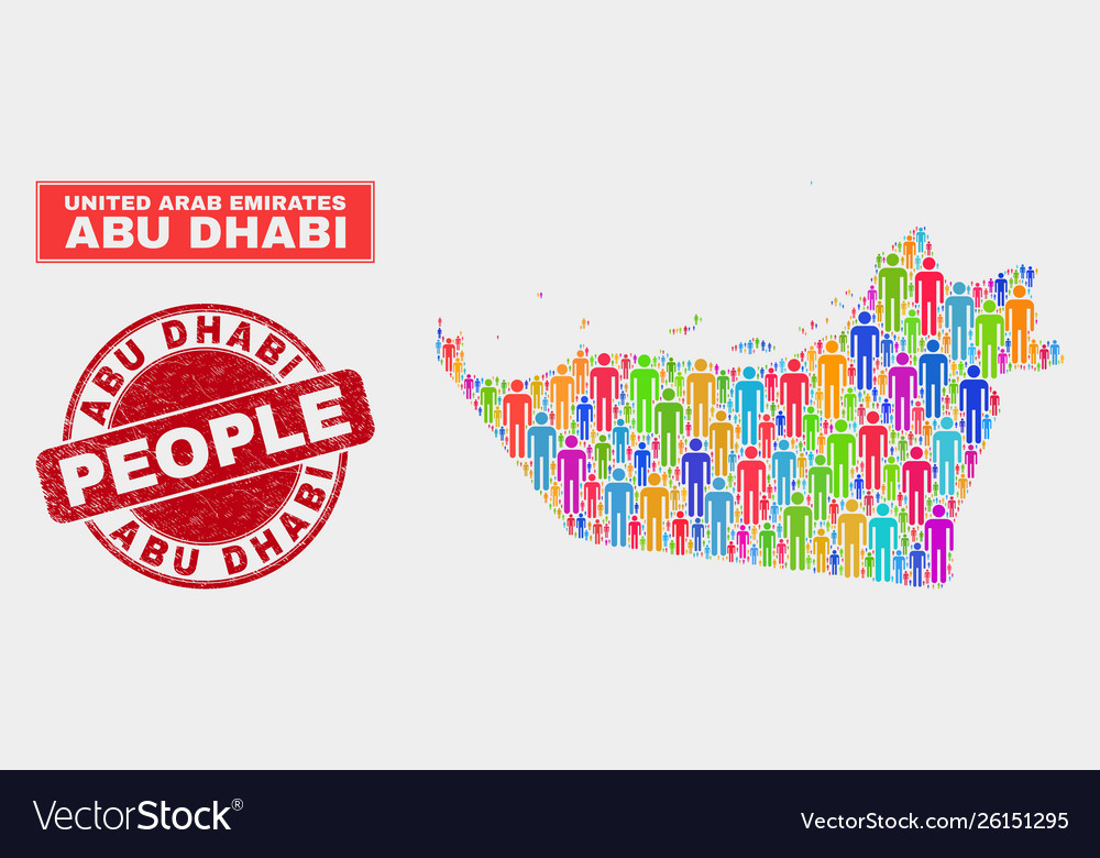 Abu dhabi emirate map population people and dirty