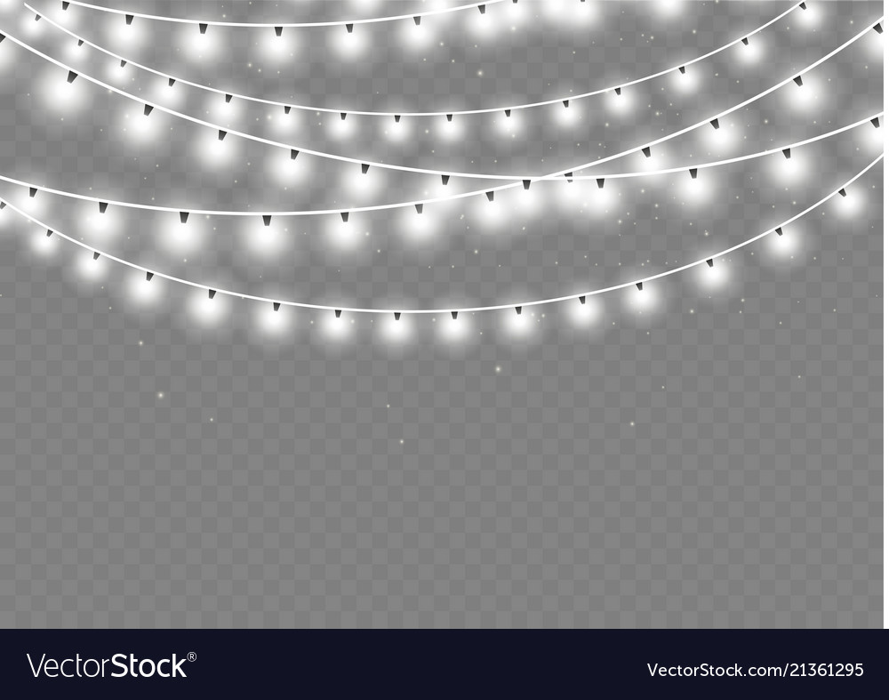 Christmas lights isolated realistic design
