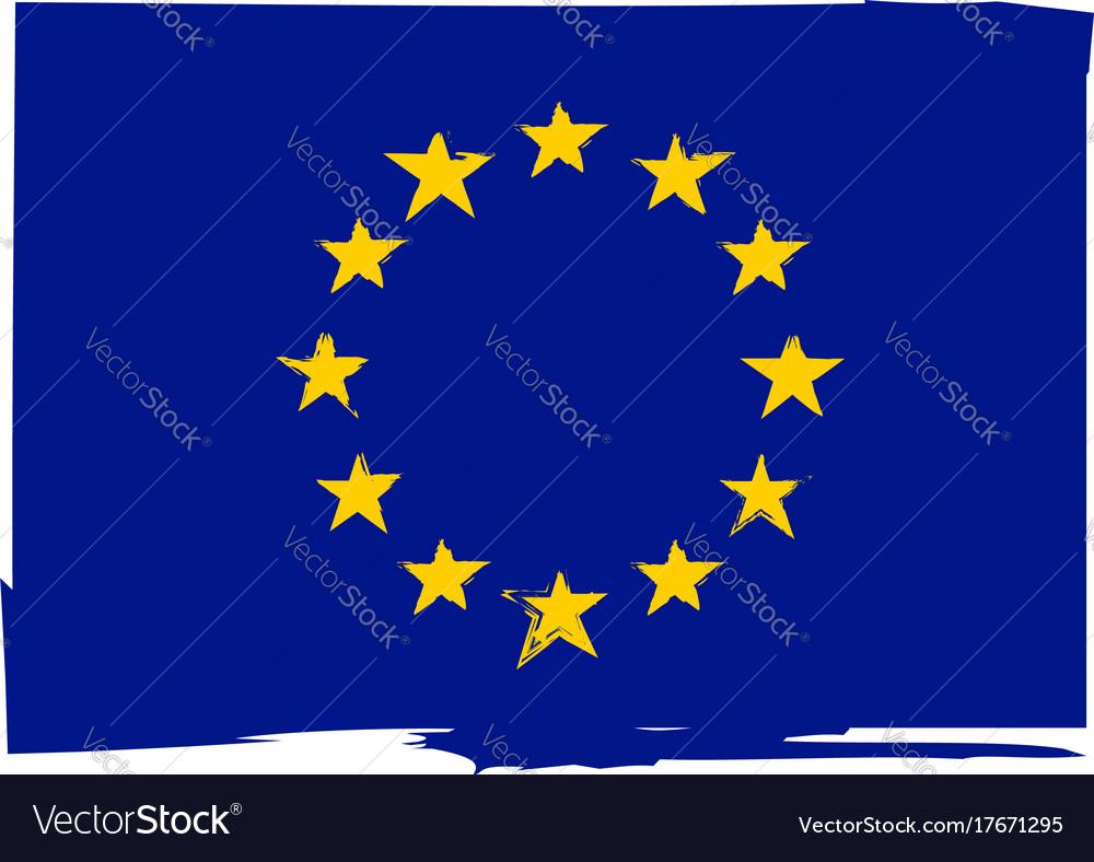 Grunge european union flag or banner