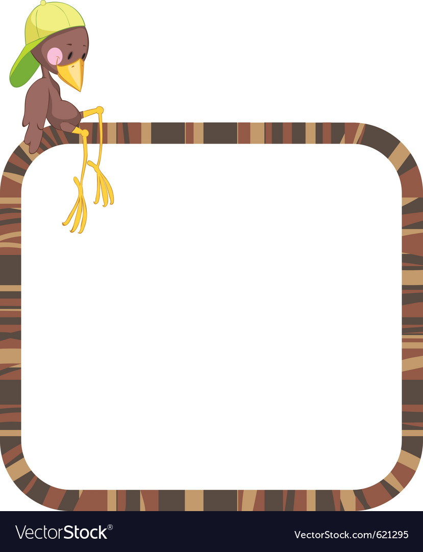 Label frame - funny birds Royalty Free Vector Image