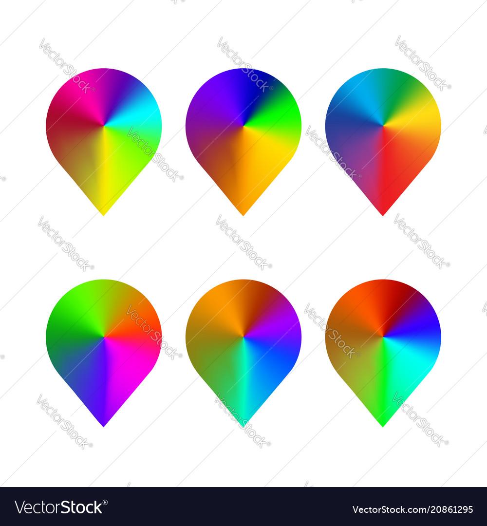 Navigation point figure color rainbow design
