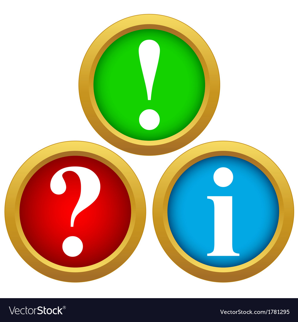 Question and answer icons Royalty Free Vector Image