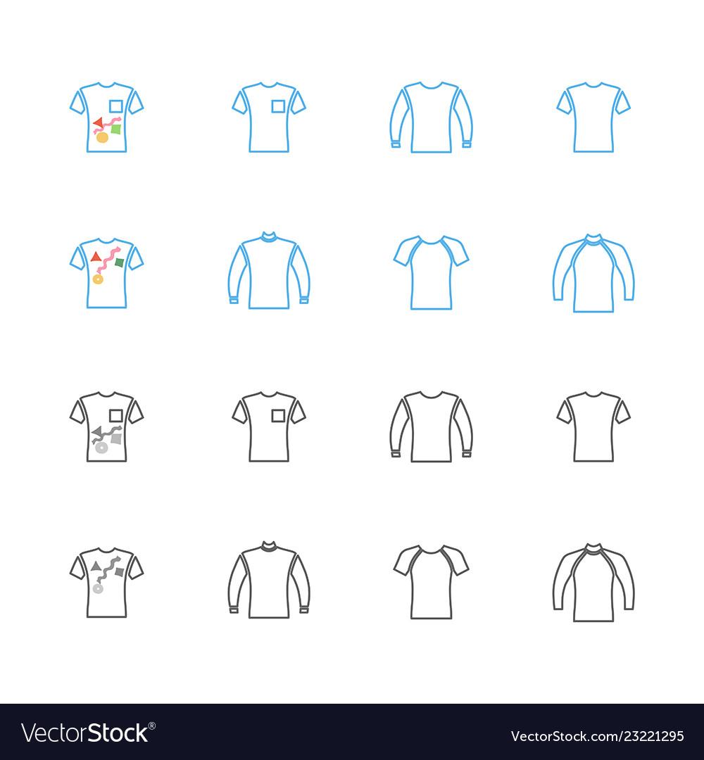 Sweater sweatshirt t-shirt icon set