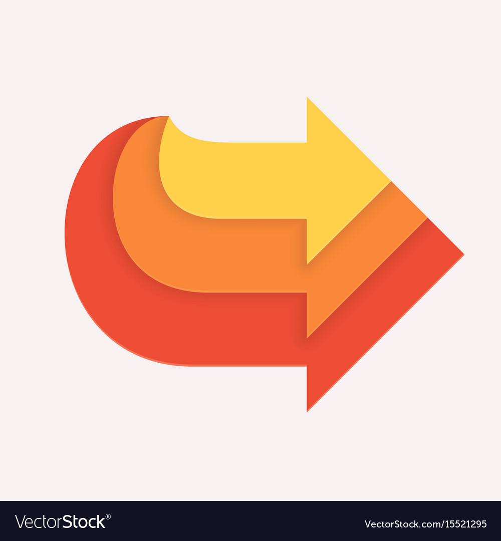 Three in one arrows vector image