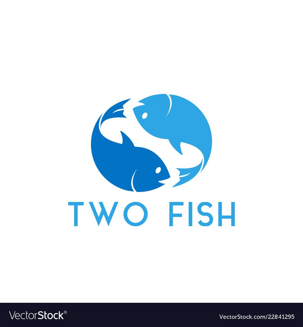 Two fish graphic design template