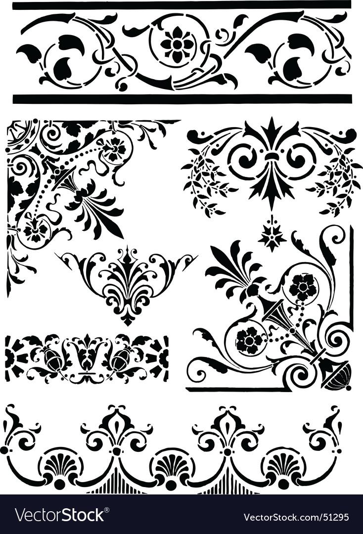 Vintage grunge design motifs