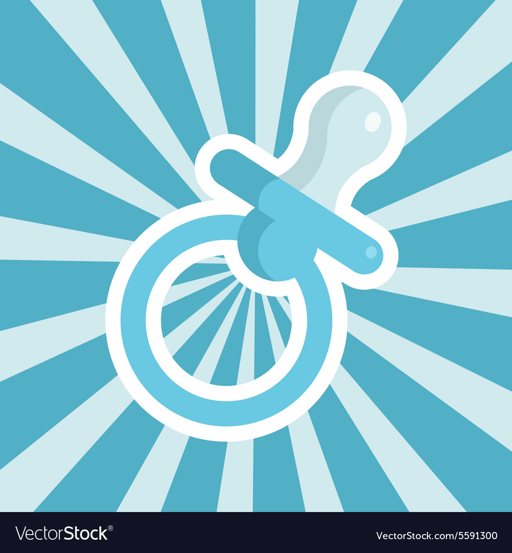 Baby Shower Pacifier Icon