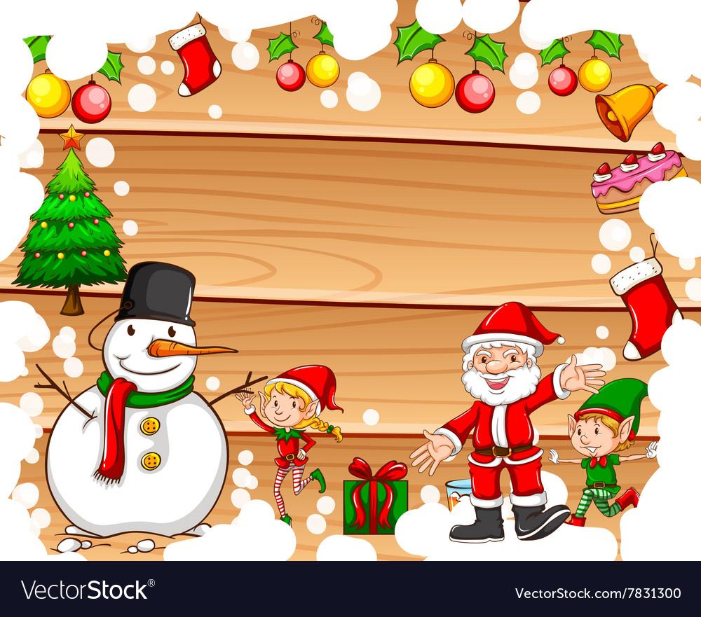 Christmas Border Design.Border Design With Christmas Theme