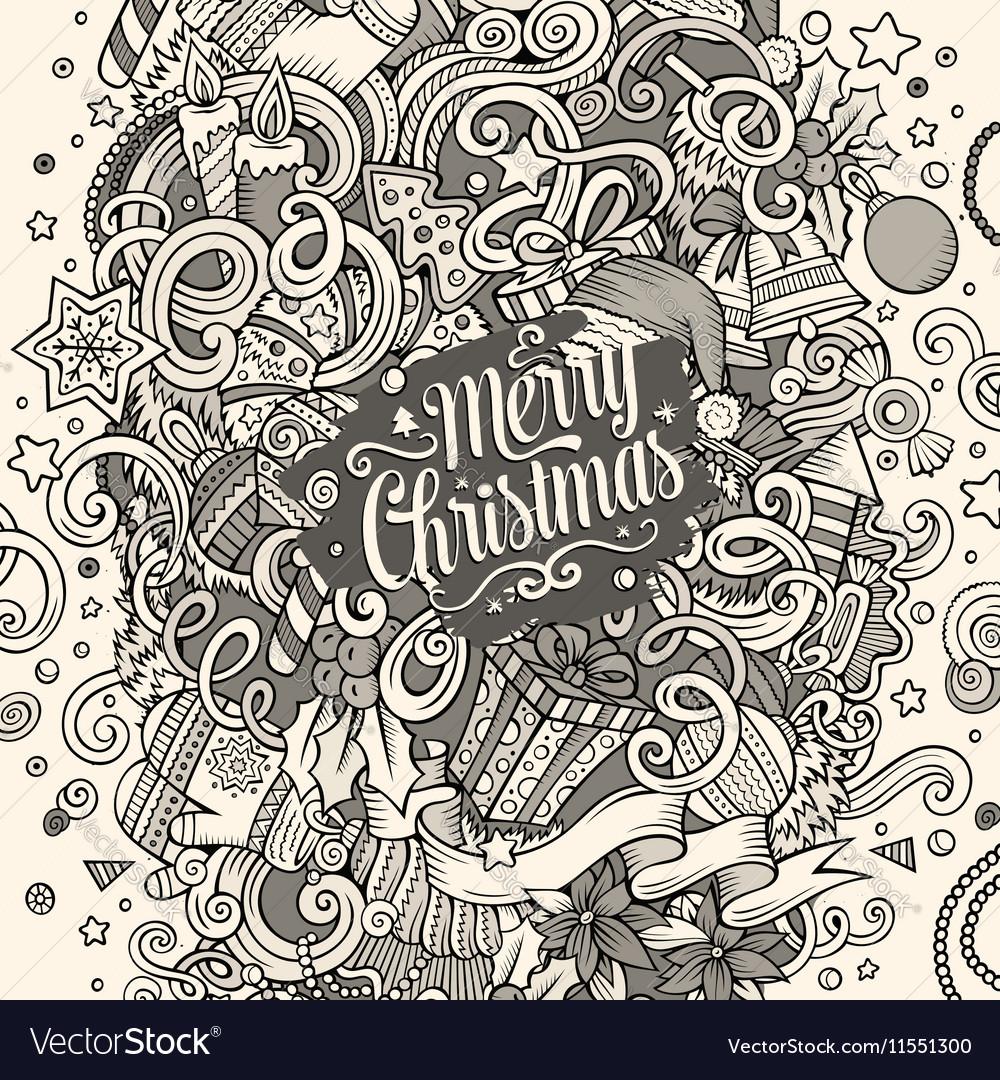 Cartoon cute doodles New Year