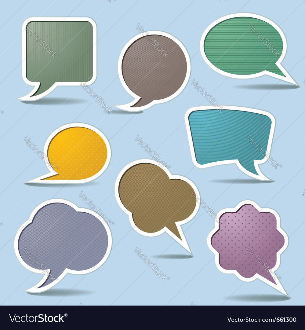 Collection speech bubbles vector image