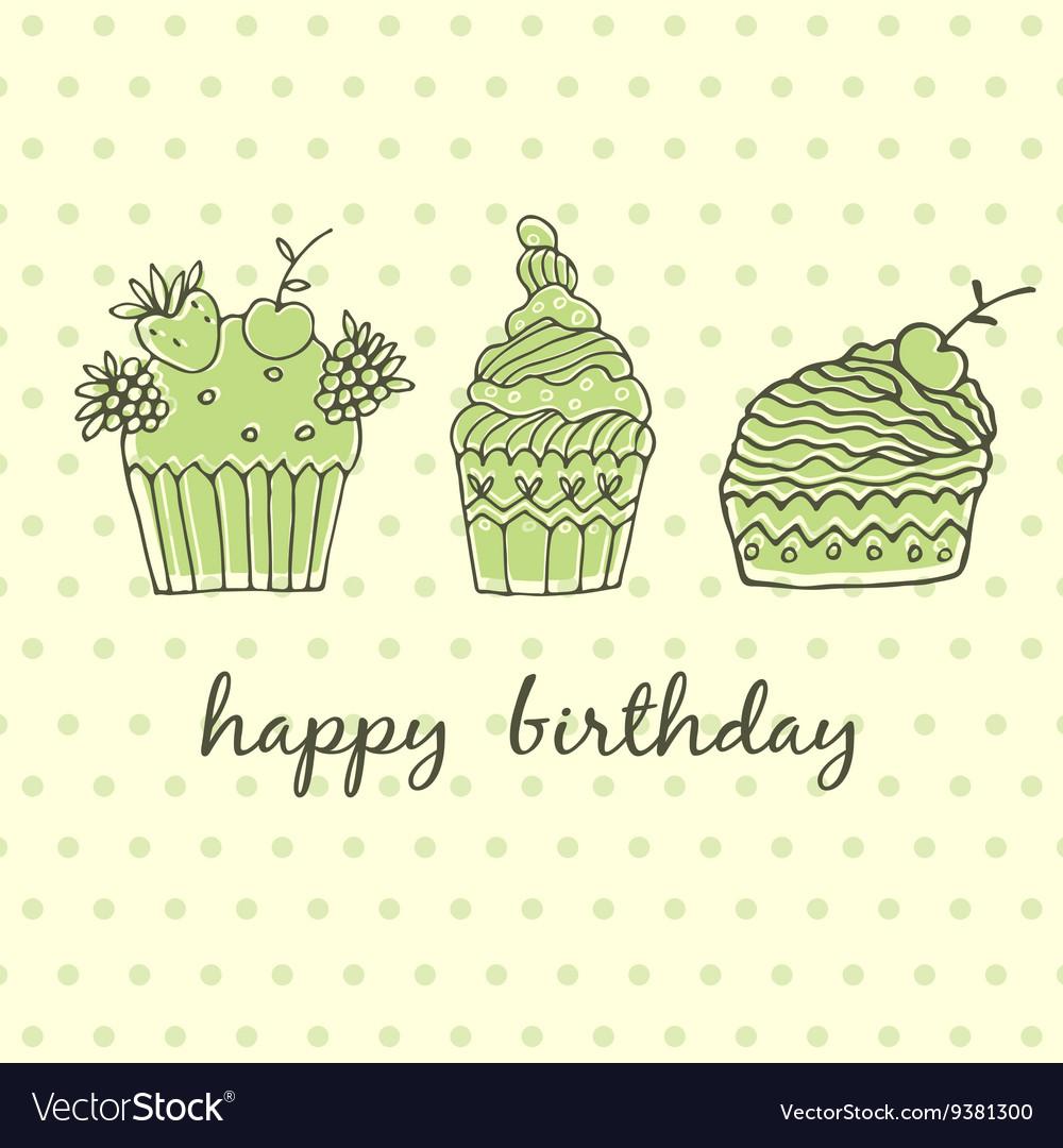 Delicious cakes vector image