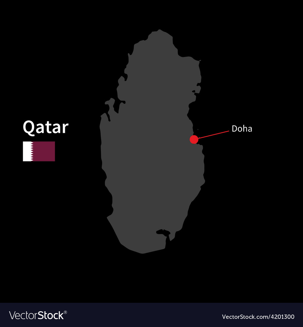 Detailed map of Qatar and capital city Doha with