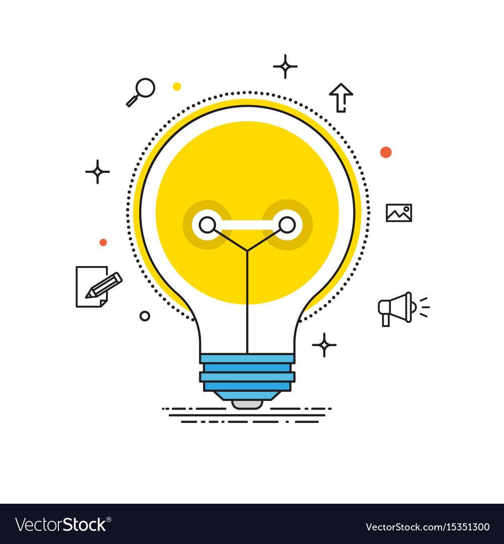 Idea lines design bulb flat