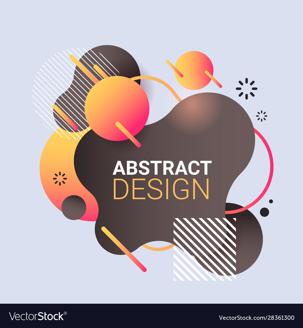 Modern graphic element dynamical colored form