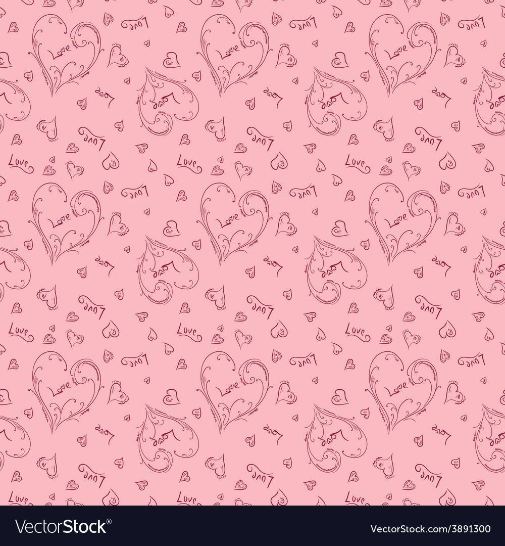 Pink romantic pattern