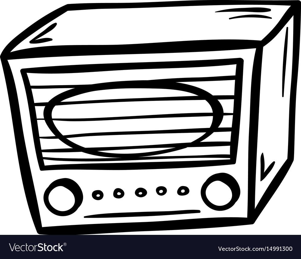 Retro radio doodle