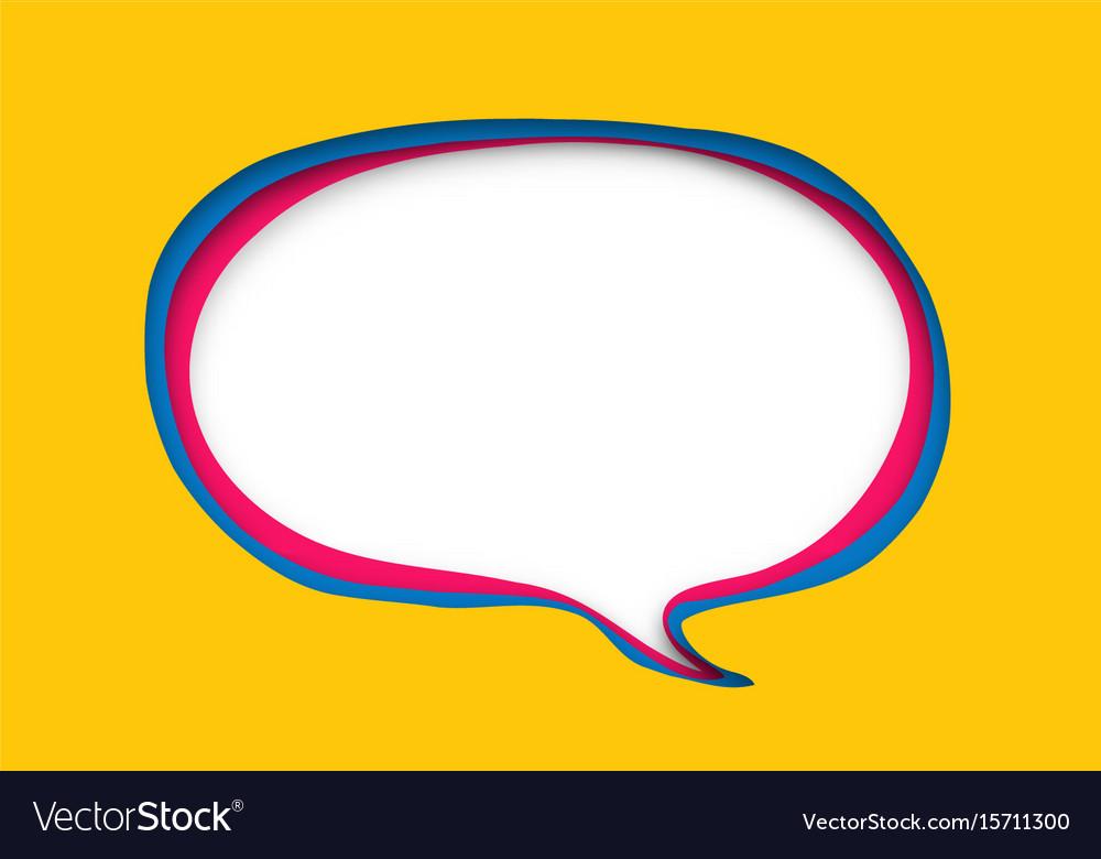 Speech bubble in paper cut style