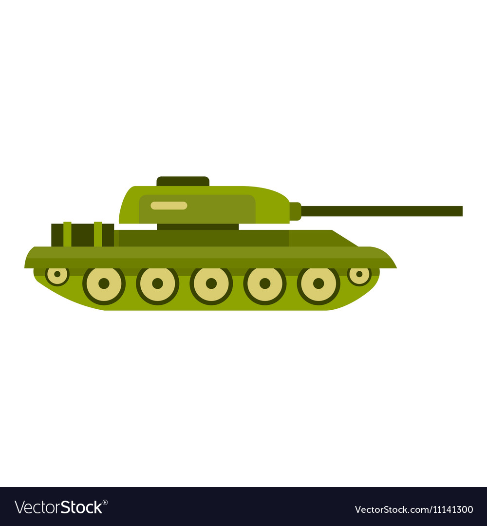 tank icon flat style royalty free vector image vectorstock