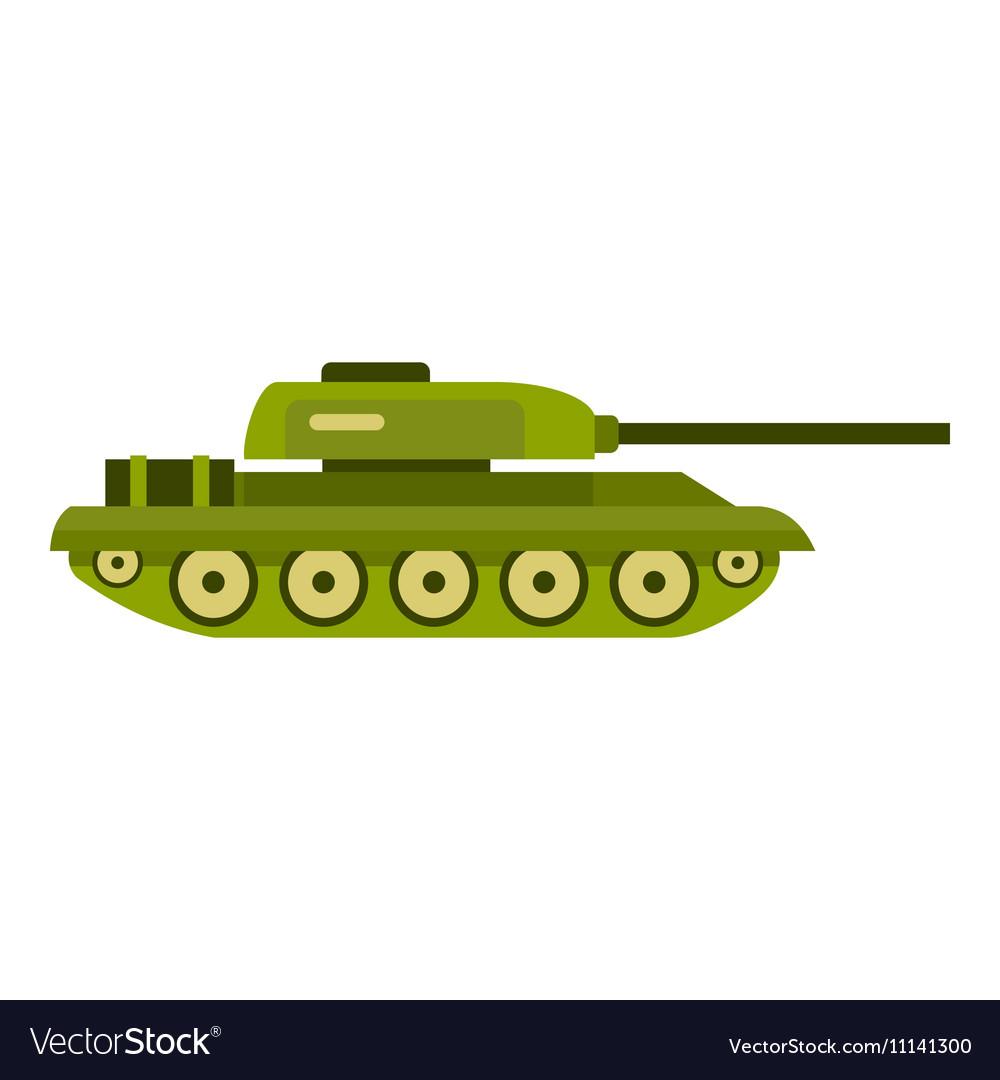tank icon flat style royalty free vector image vectorstock