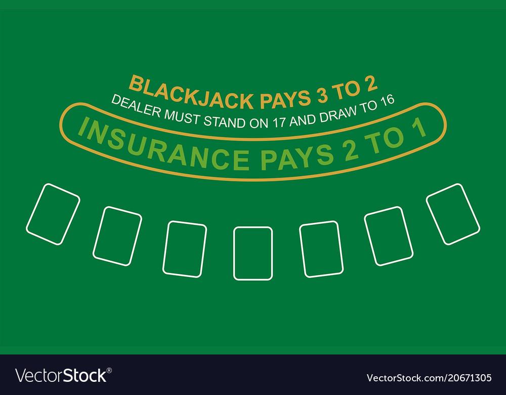 Incroyable Blackjack Table Top View Vector Image