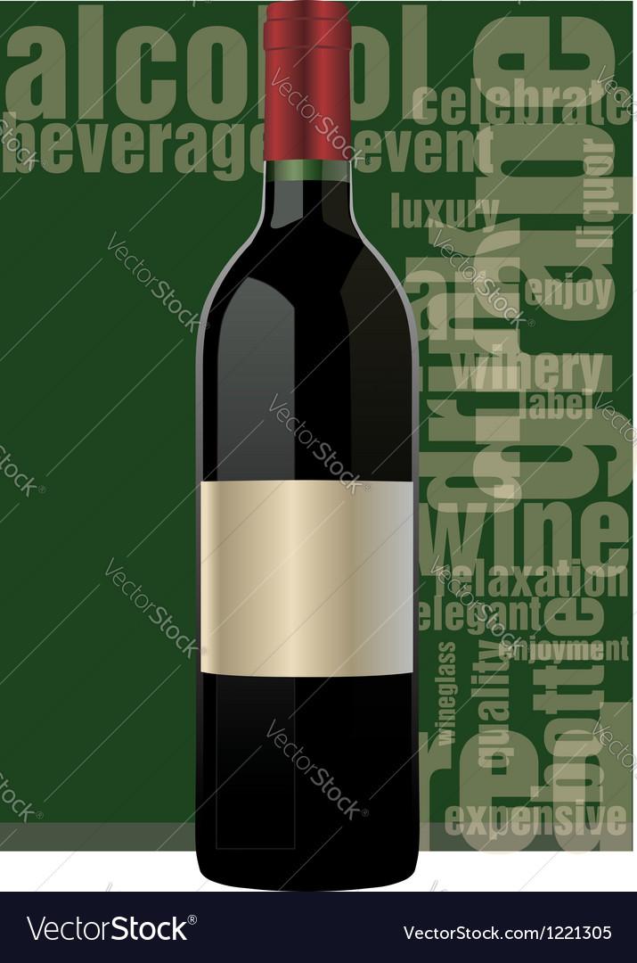 Bottle of wine vector image