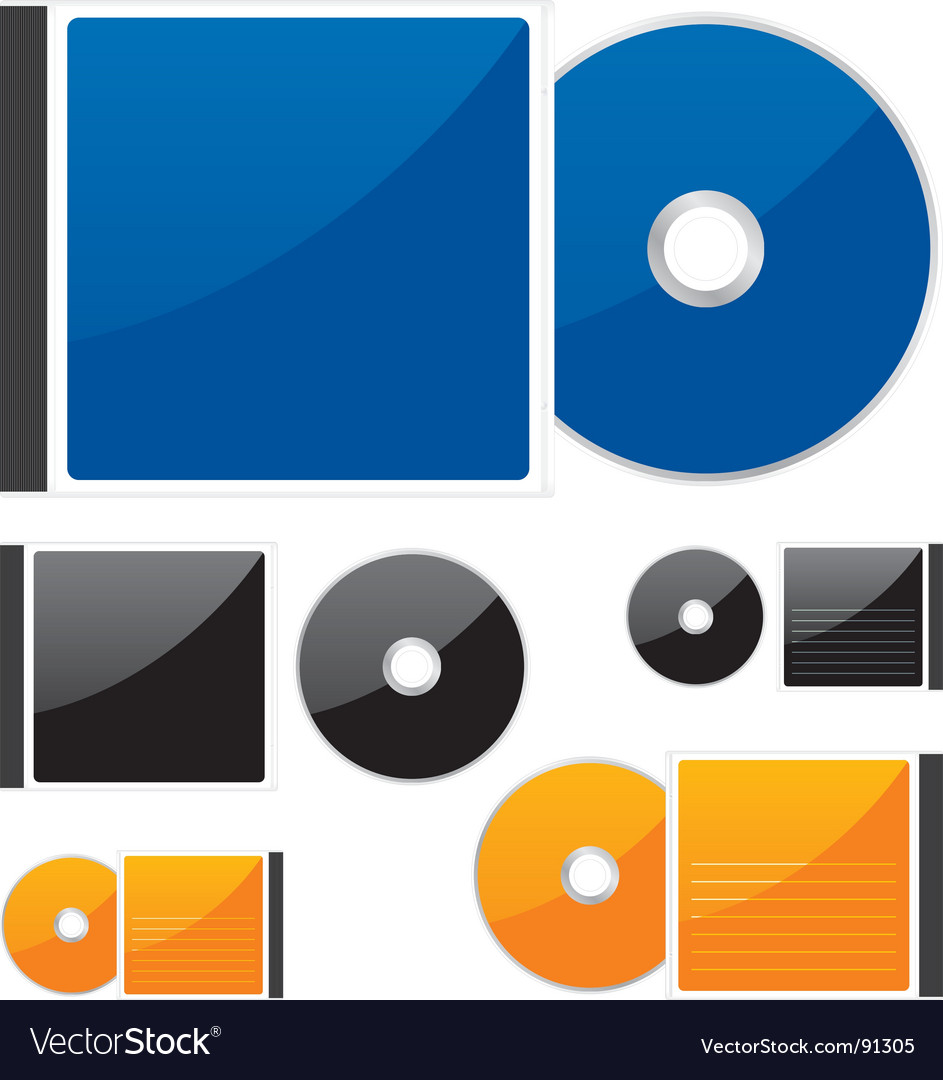 Compact disks vector image