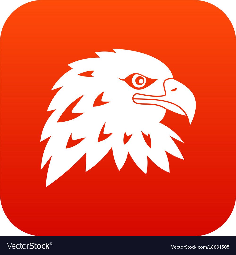 Eagle icon digital red vector image