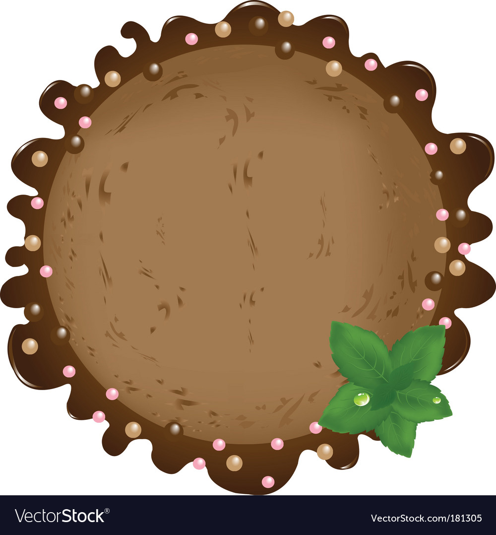 Ice-cream with mint leaves vector image