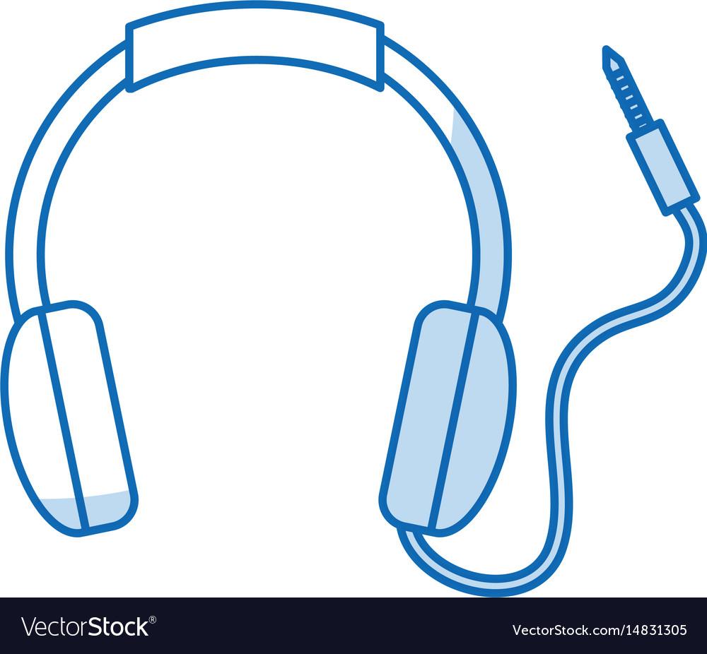Isolated headphones icon
