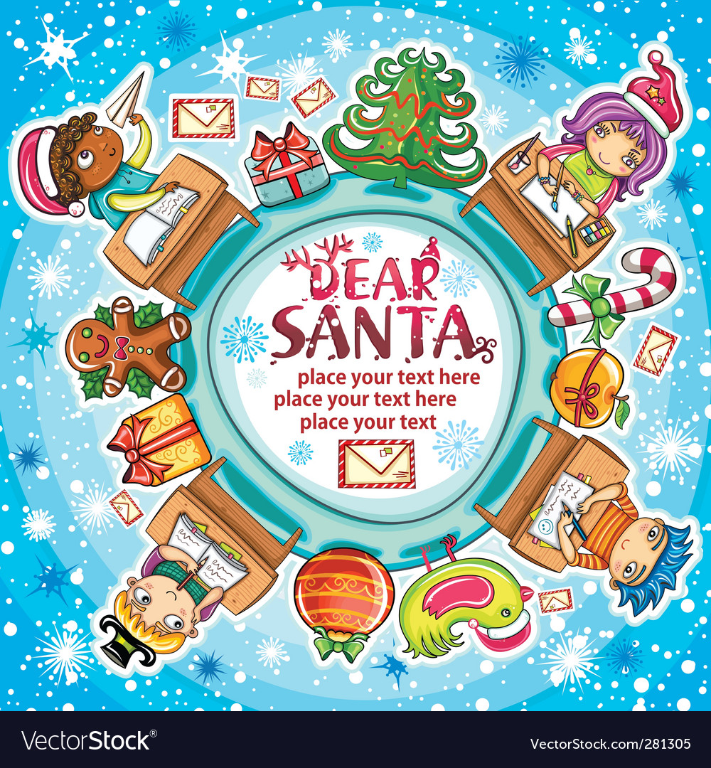 Letter to Santa series vector image
