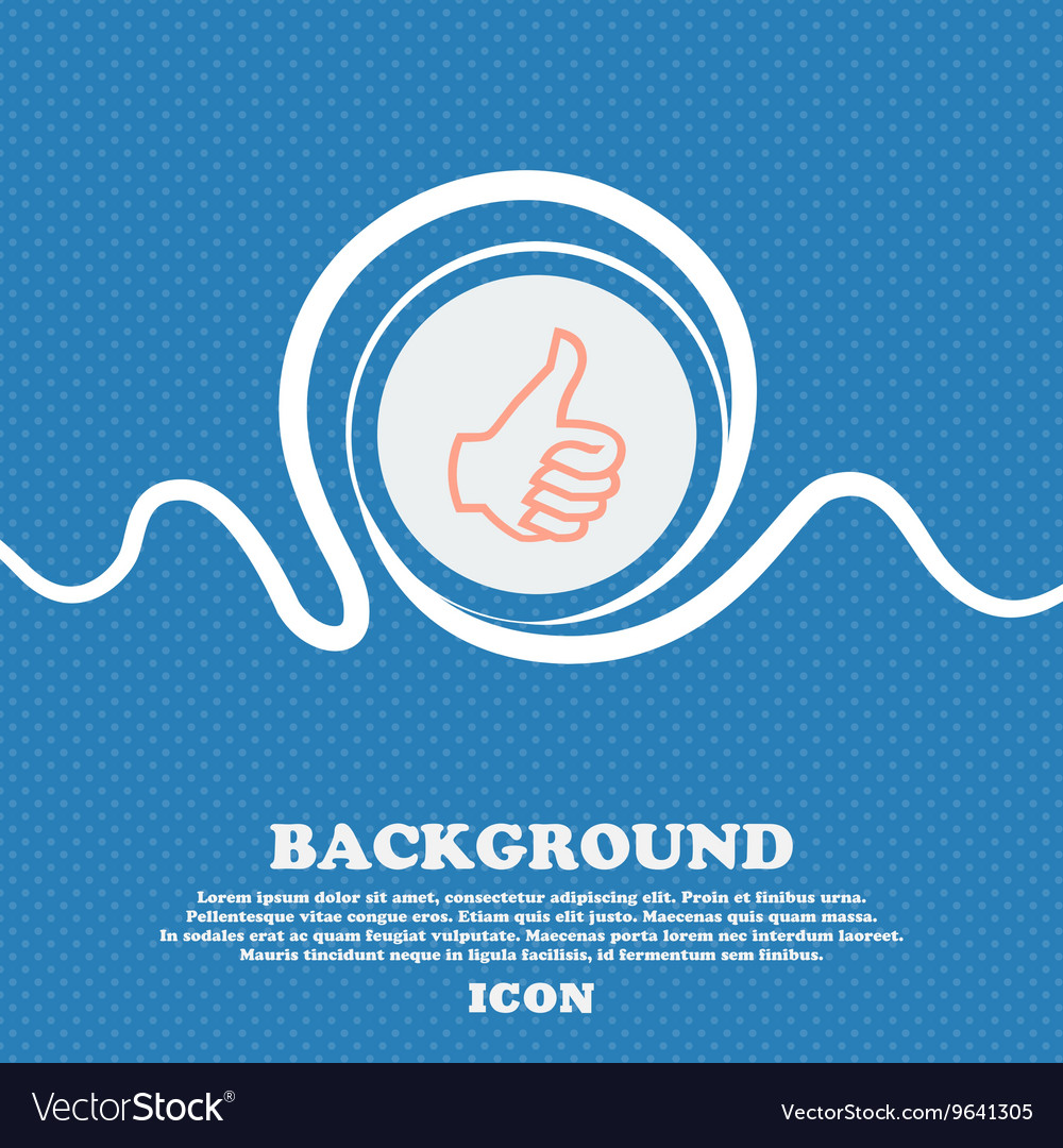 Like sign icon Thumb up symbol Hand finger-up Blue