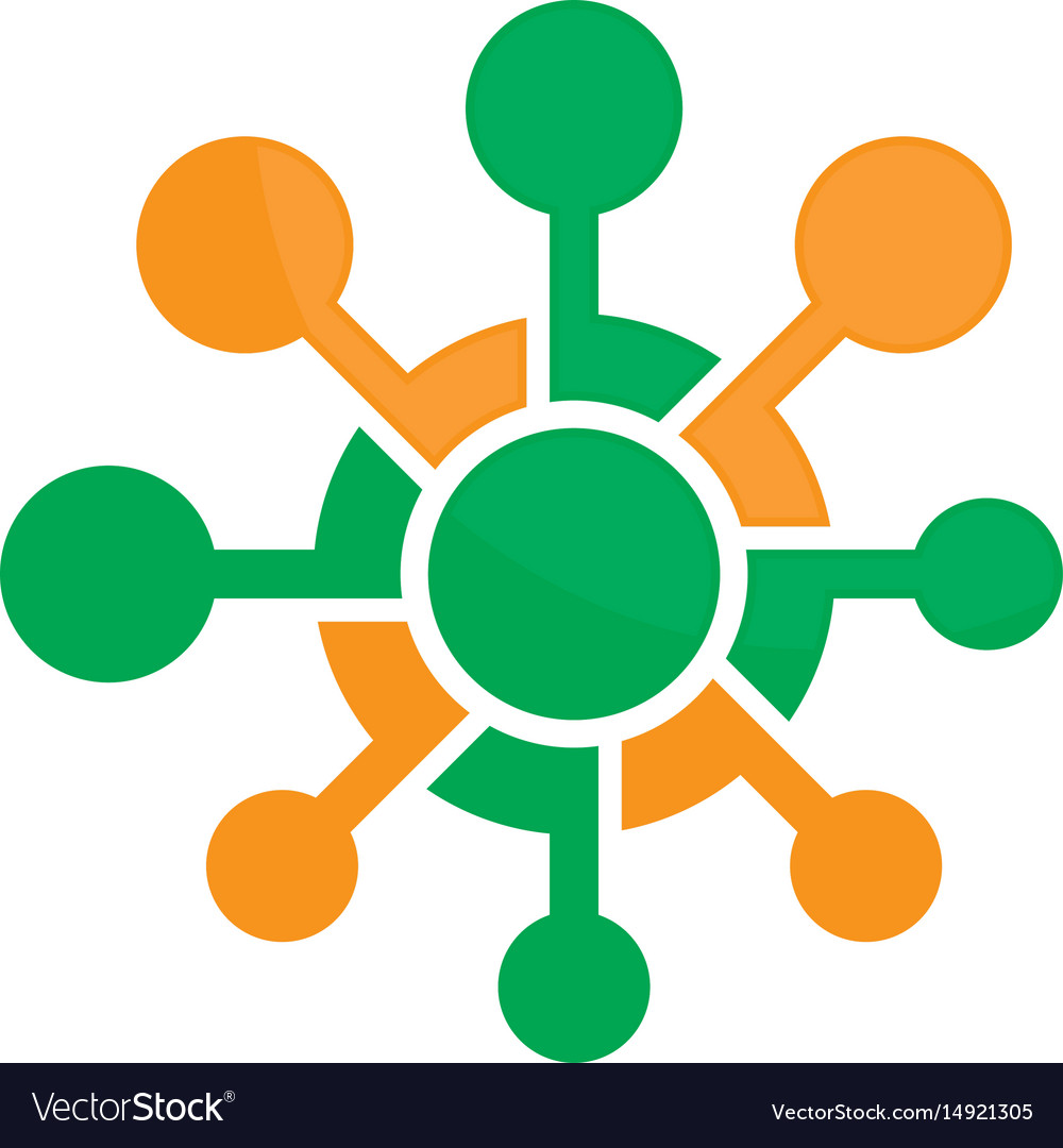 Network connection logo image