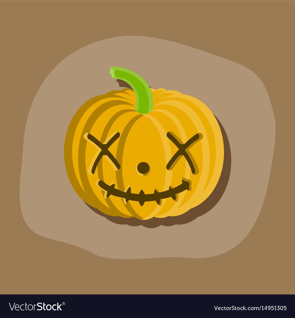 funny cartoon halloween pumpkin sticker icons