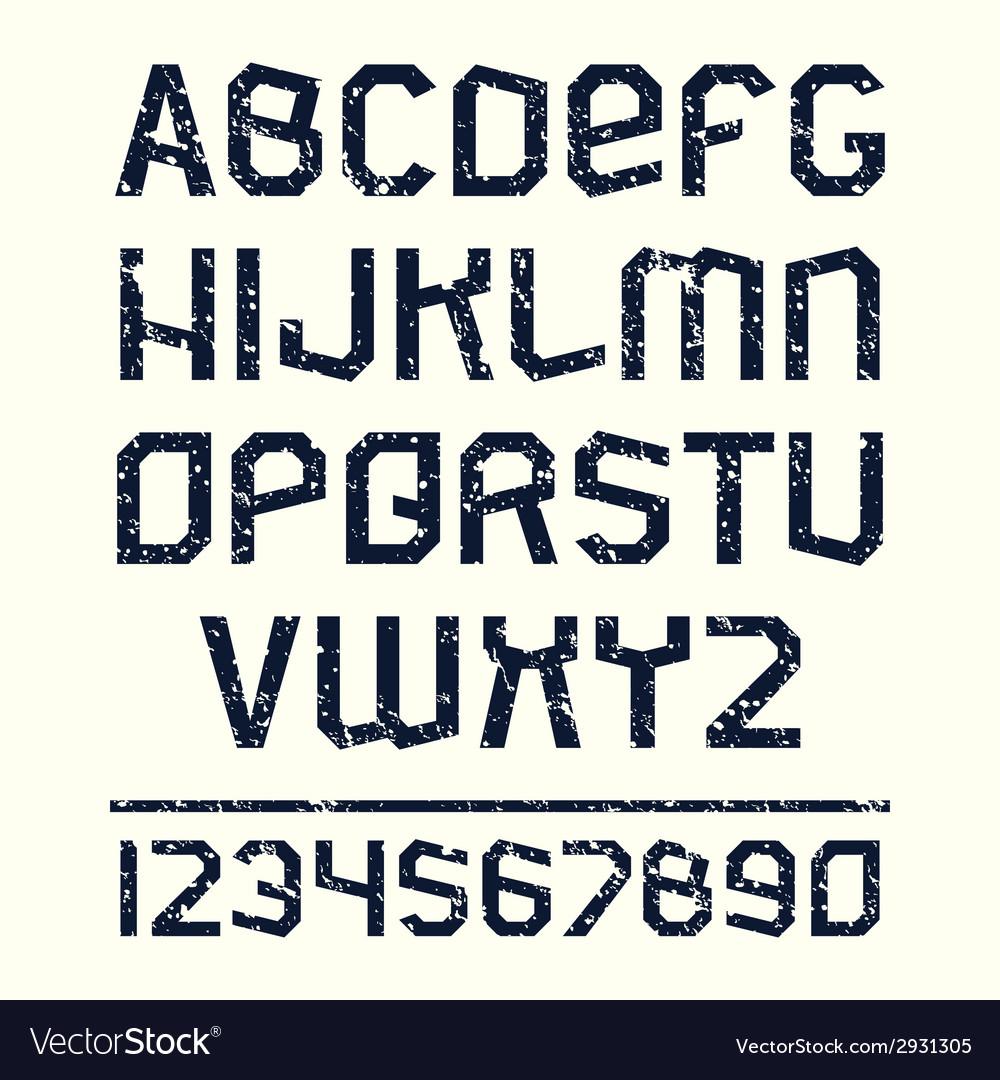 Sans serif font in retro stile