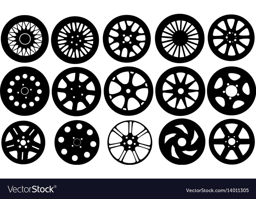 Set of different rims