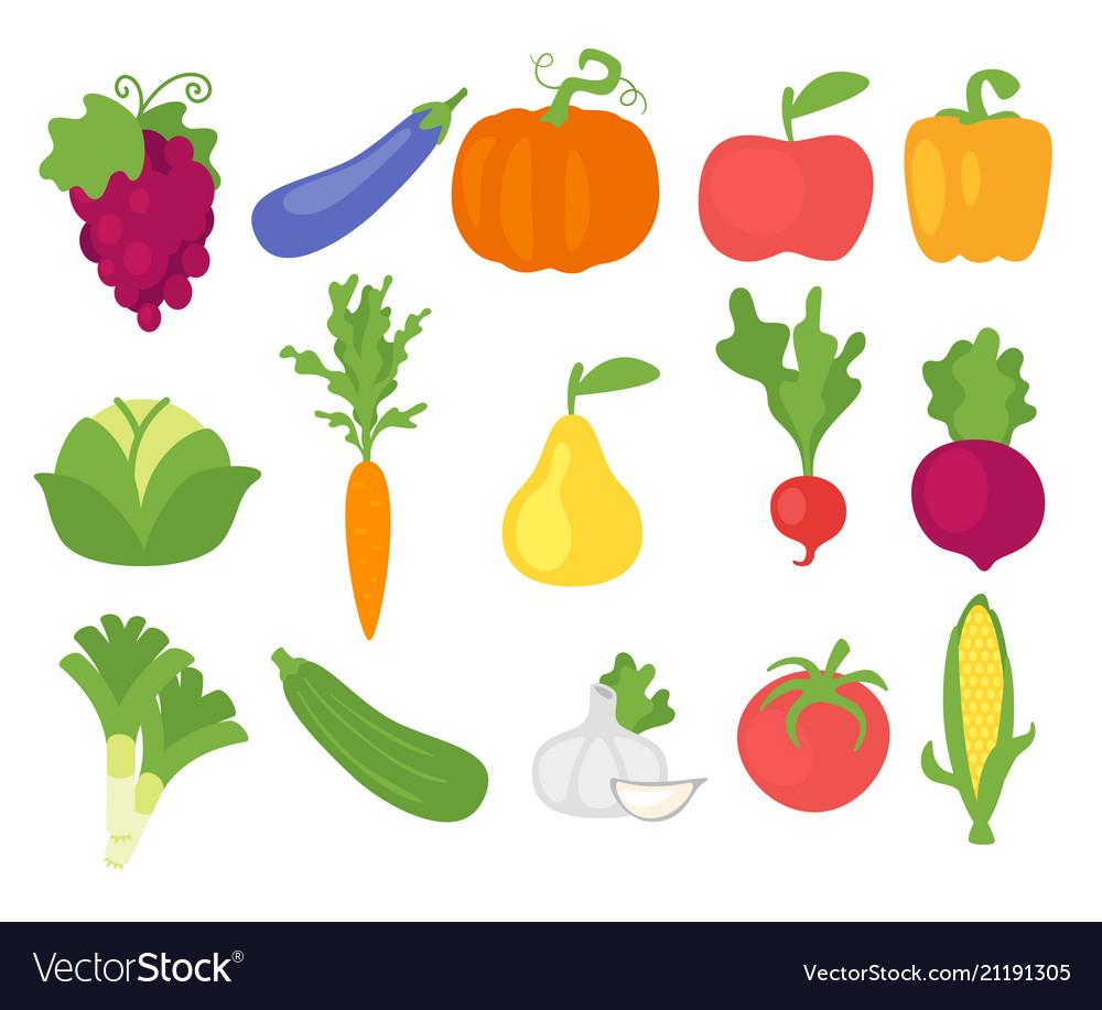 Vegetables in simple minimalism style