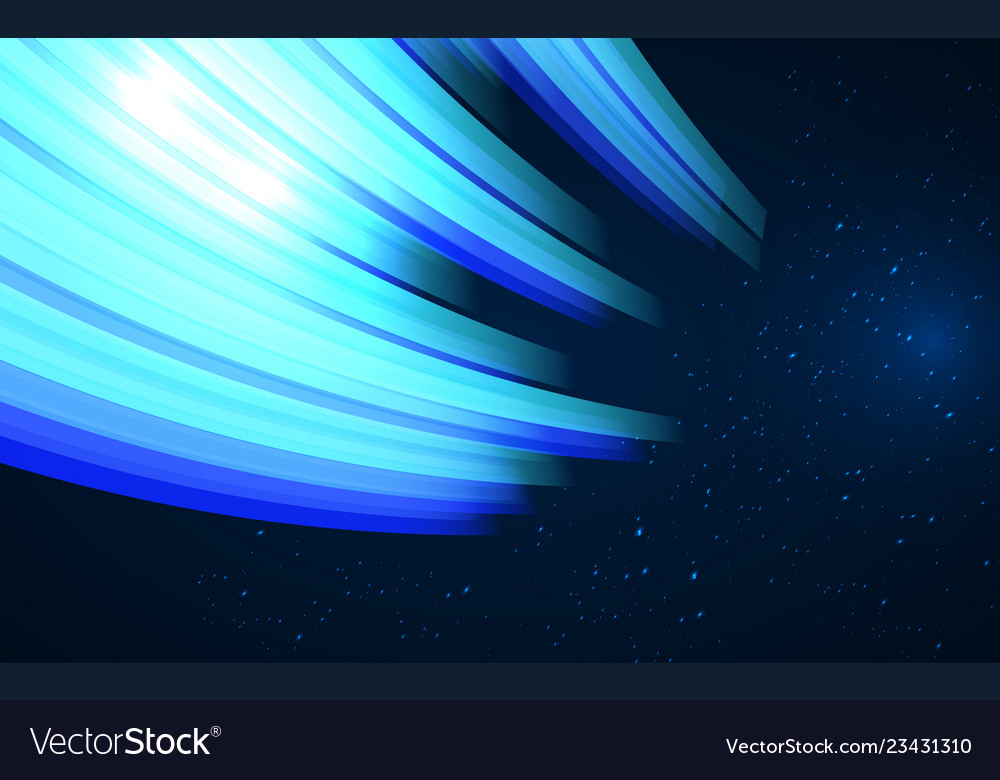 Abstract design - blue glowing wave fantasy