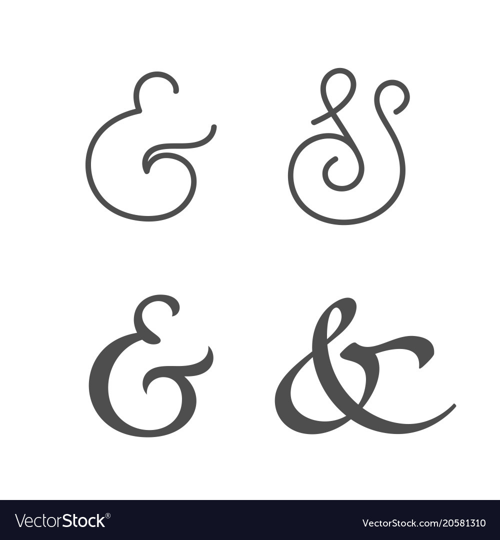 Ampersands vector image
