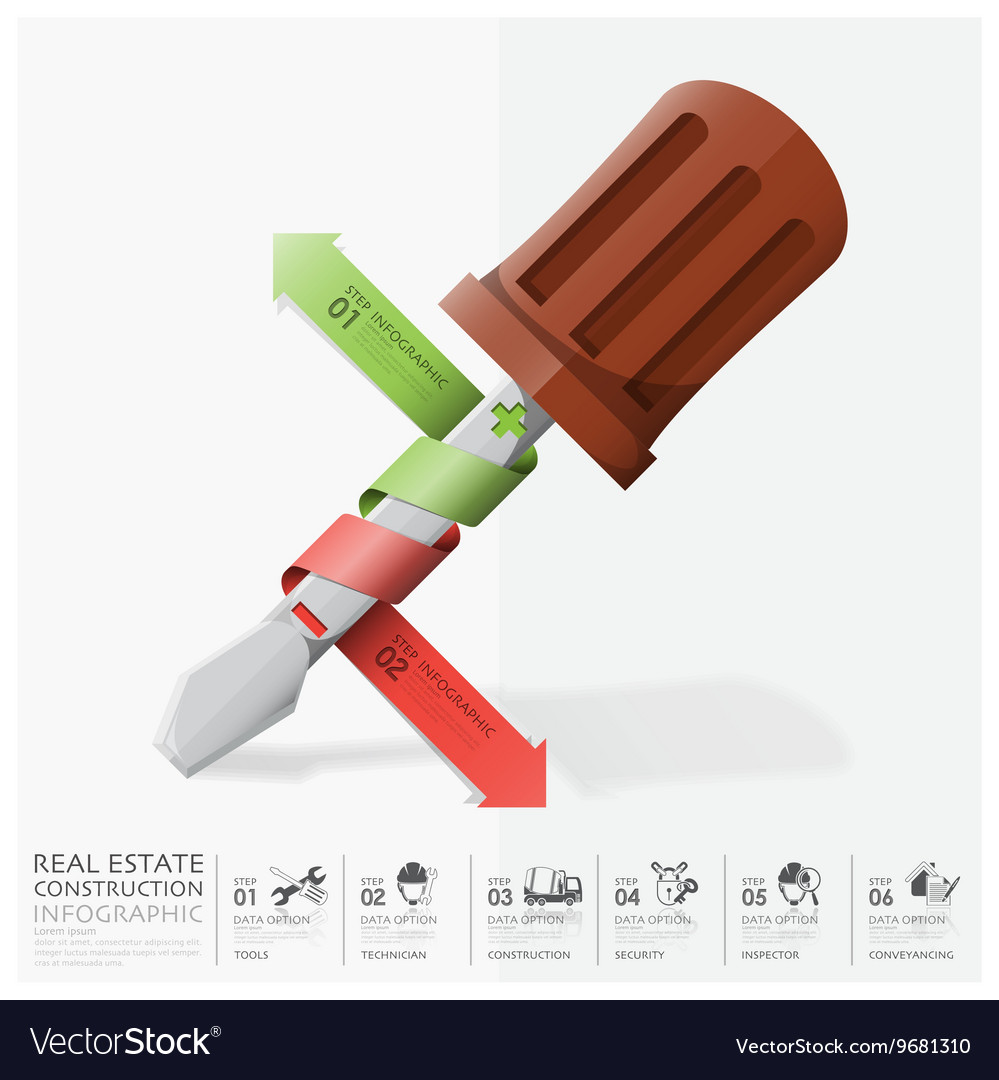 Business And Real Estate Construction With Spiral vector image