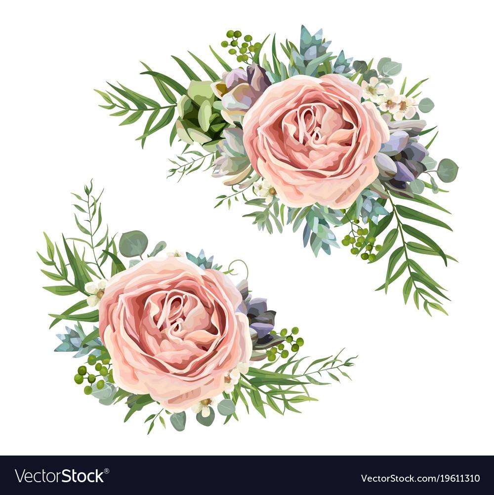 Floral bouquet design of garden pink lavender rose floral bouquet design of garden pink lavender rose vector image izmirmasajfo